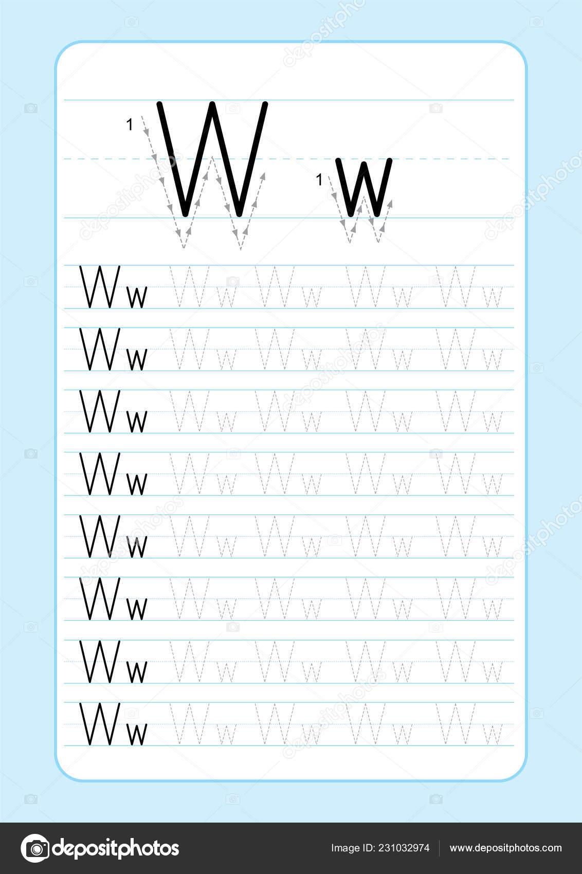 Abc Alphabet Letters Tracing Worksheet Alphabet Letters Basic
