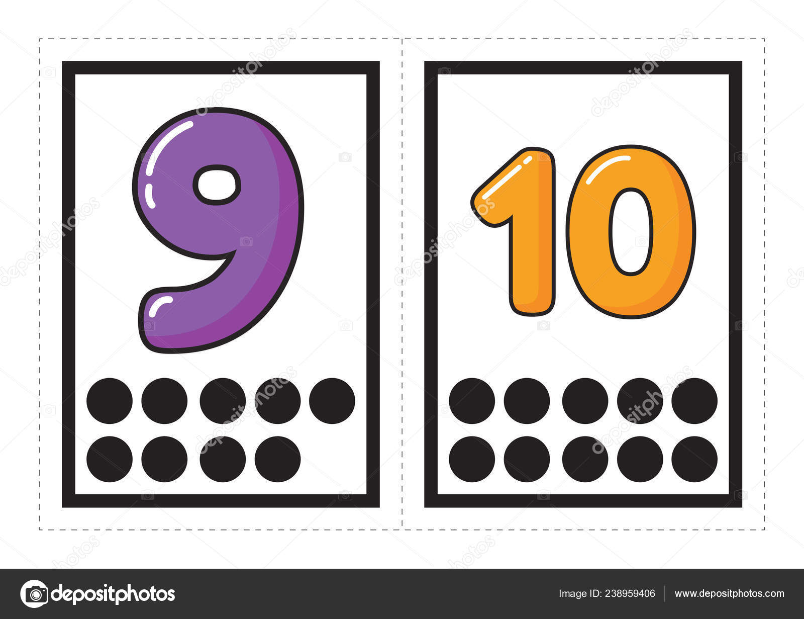 Printable Flash Card Collection Numbers Corresponding