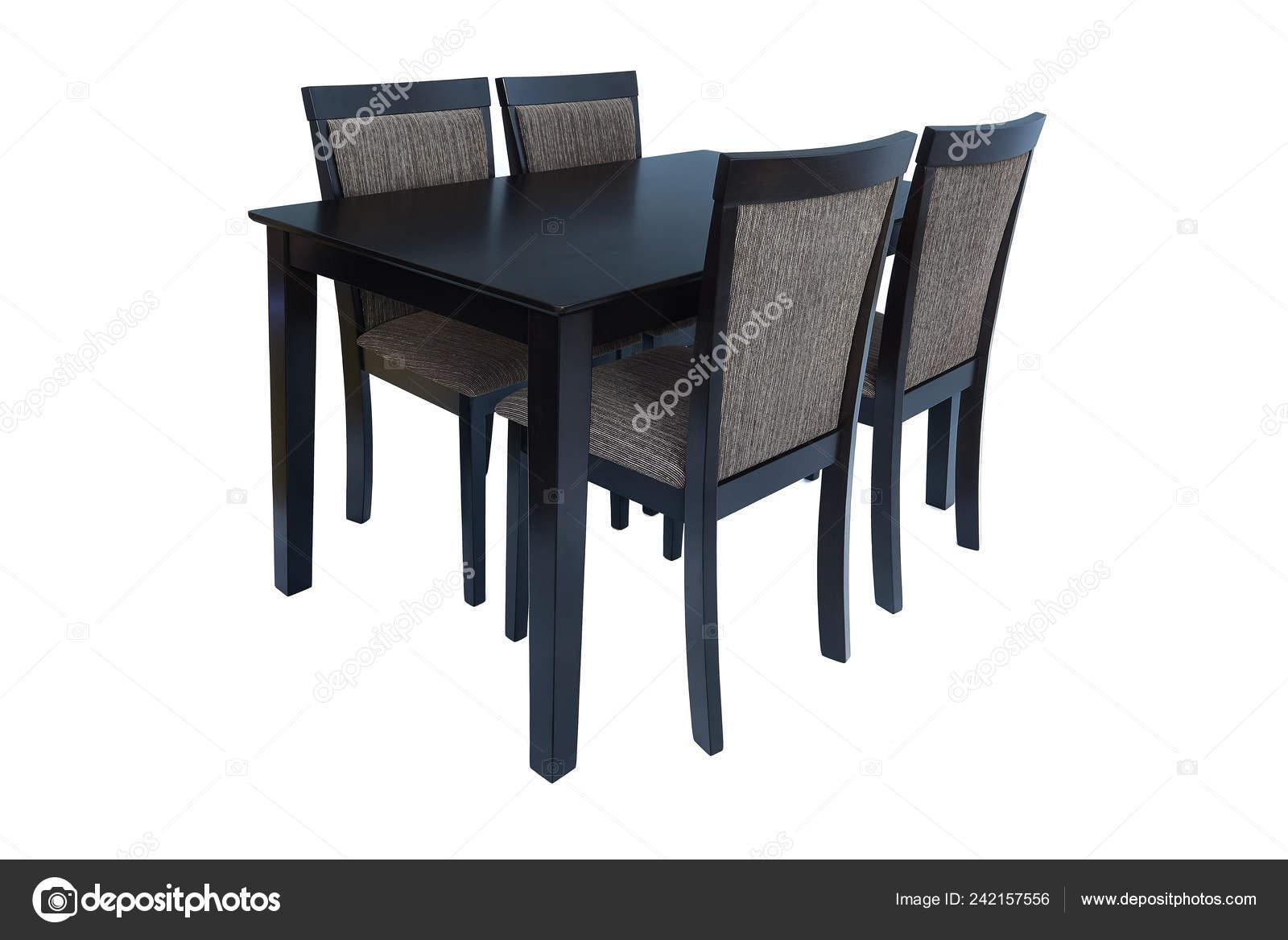 Conjunto Muebles Comedor Mesa Cuatro Sillas Elegante Comedor ...