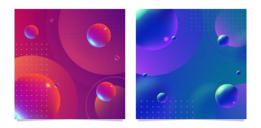 3D Abstract Fluid Background with Liquid Modern Shapes . Isolated Vector Elements
