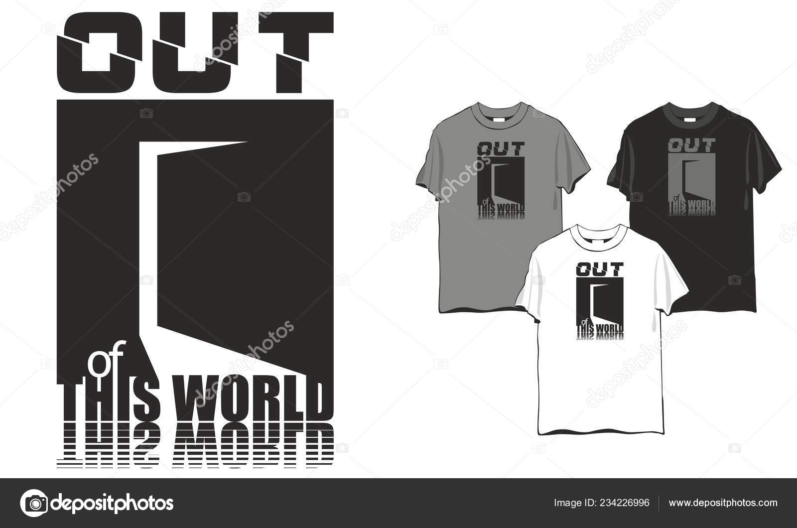 Out world slogan stylized open door pin embroidery applique