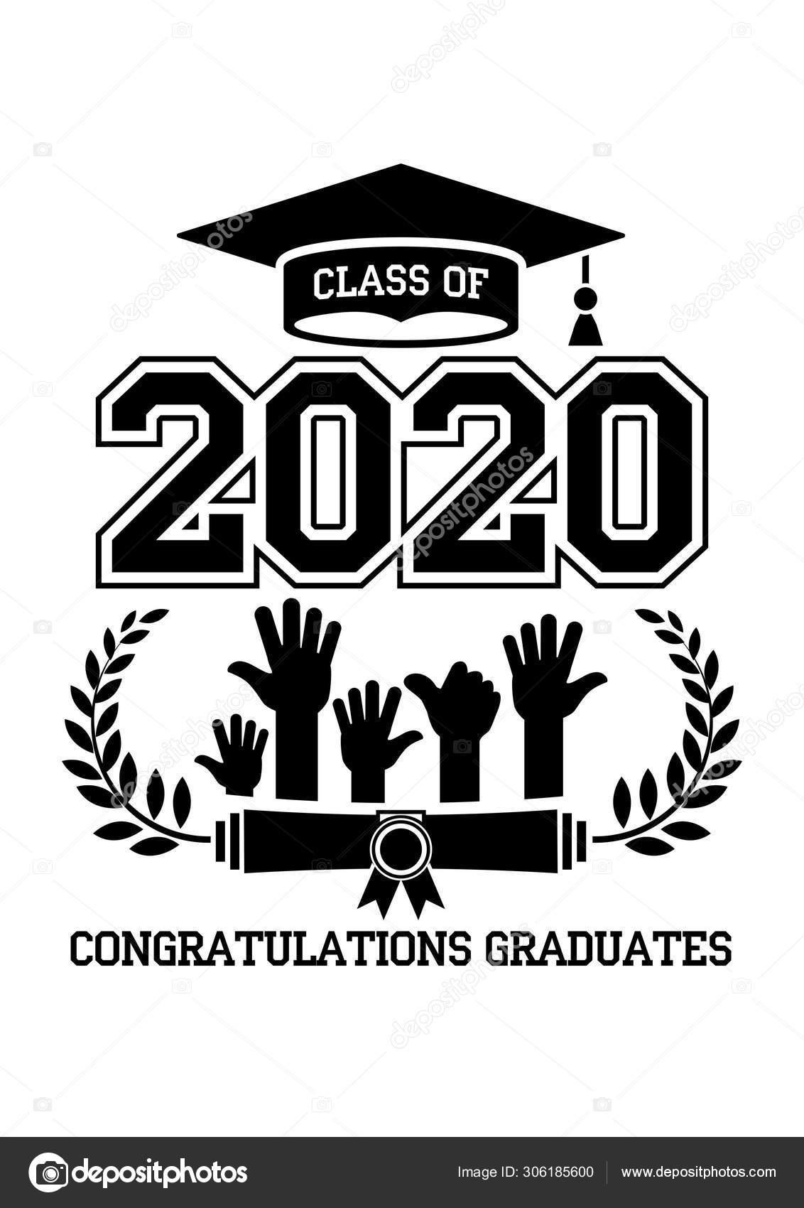 Graduation Schedule 2020.2020 High School Graduation Class Stock Vector C Virtis