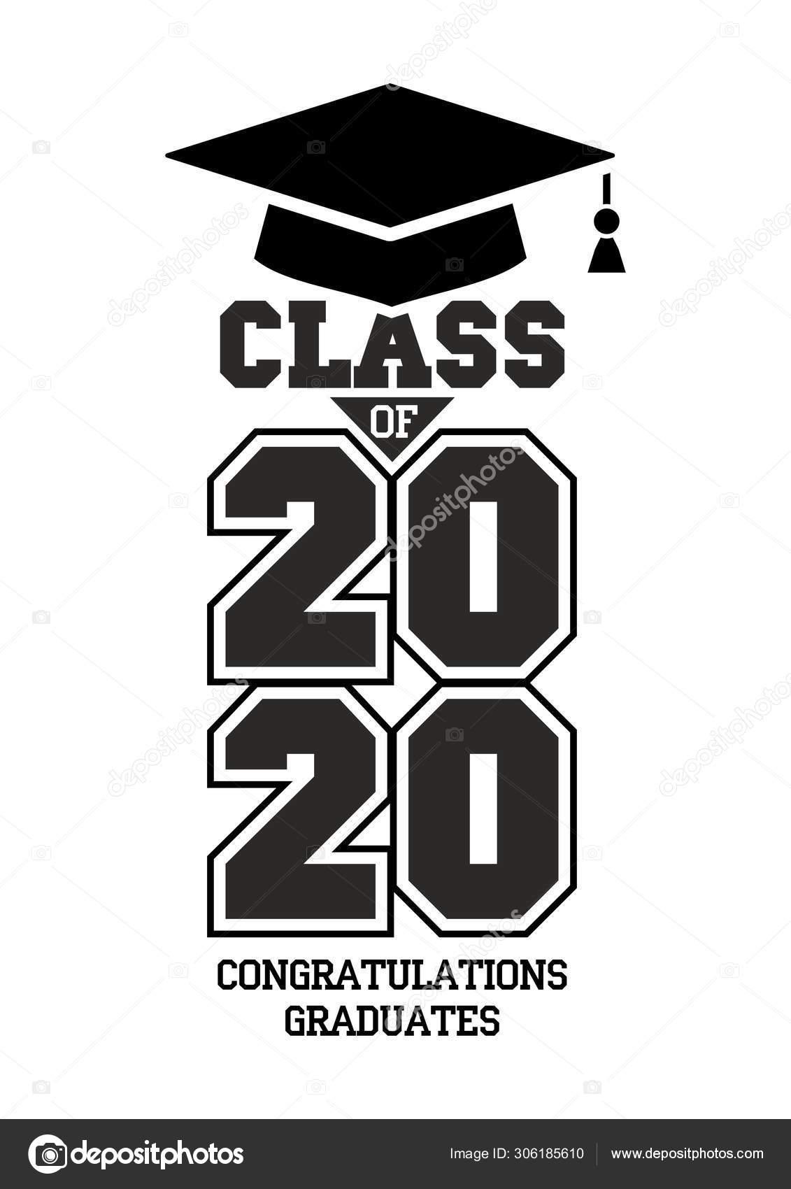 Graduation Schedule 2020.2020 Class Congratulations Graduates Stock Vector C Virtis