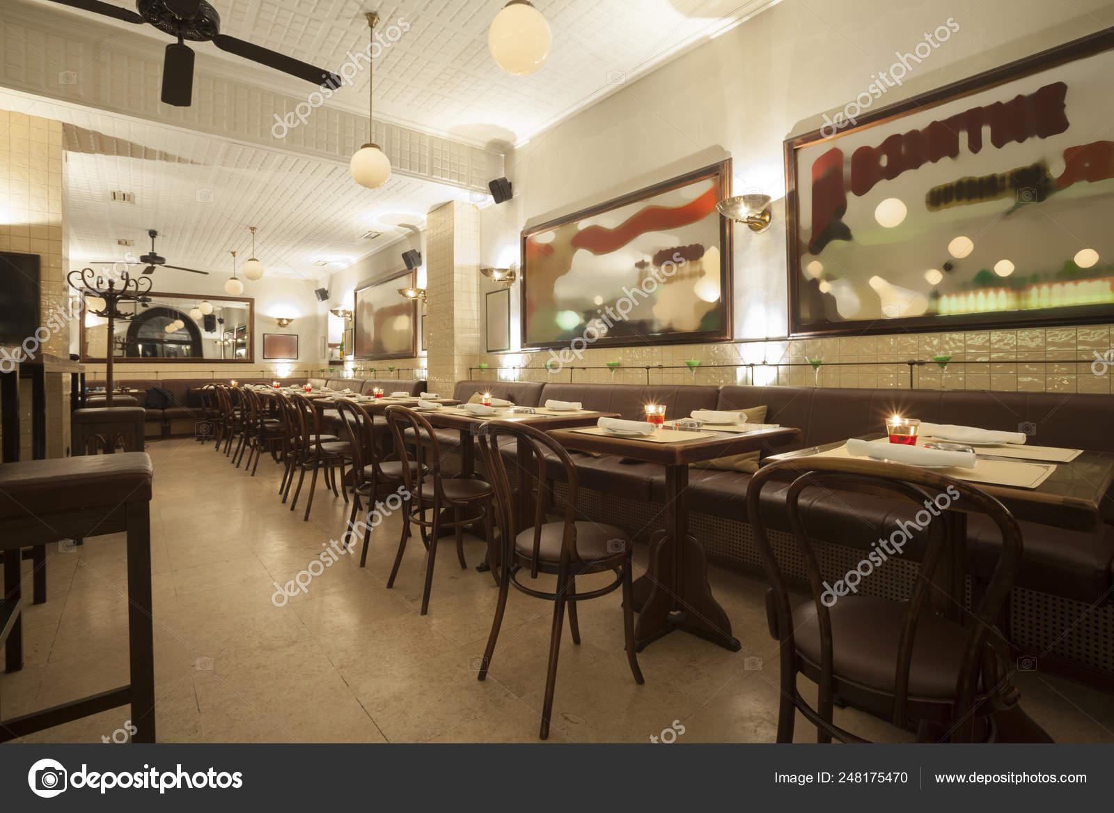 Stylish Modern Design Cafe Bar Vintage Style Stock Photo C Arizanko 248175470
