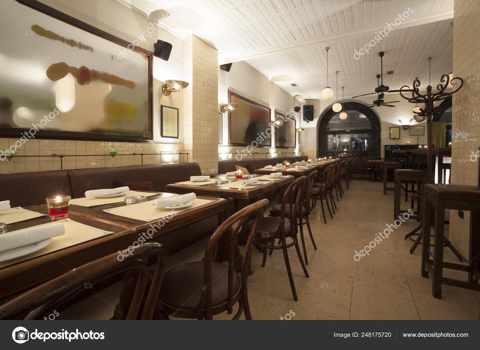 Stylish Modern Design Cafe Bar Vintage Style Stock Photo C Arizanko 248175720