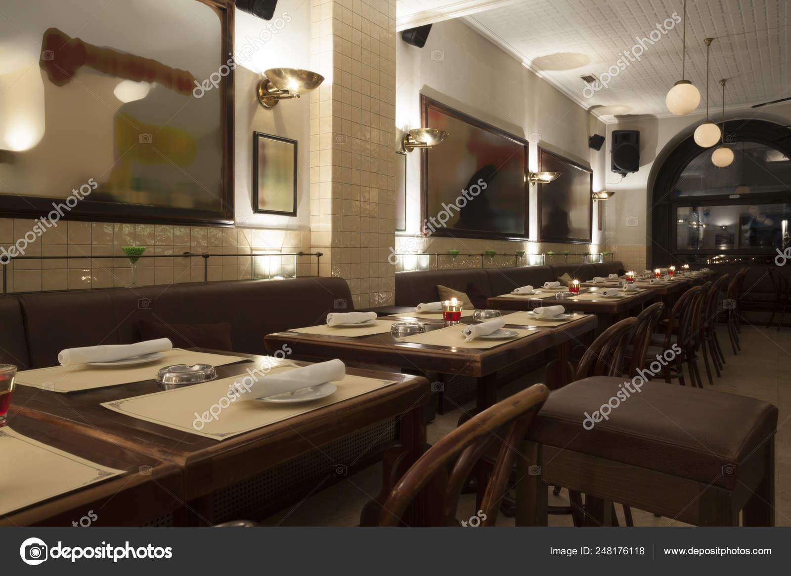 Stylish Modern Design Cafe Bar Vintage Style Stock Photo C Arizanko 248176118