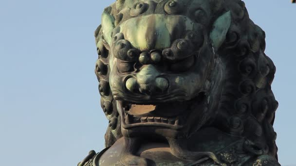 Chinese Traditional Lion as Gatekeepers. Forbidden City. Beijing. China.