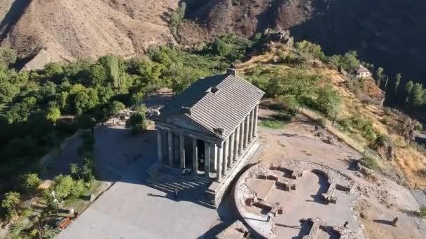 Letecký pohled na starověké Garni Pohanský chrám, helénistického chrámu v Arménii.
