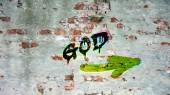 Fényképek Fali Graffiti Isten