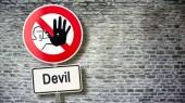 Fényképek Fali jel ördög tilos