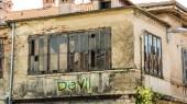 Fényképek Fali Graffiti ördög vs angyal