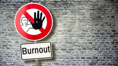 Wall Sign Burnout vs Chillout