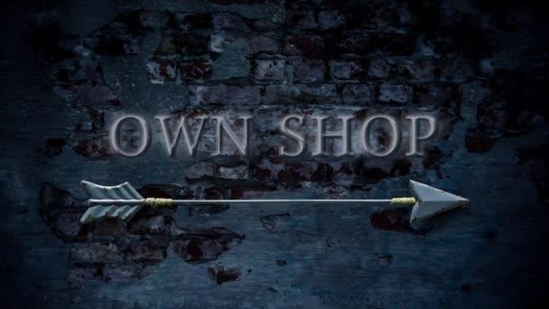 Straßenschild, eigenen Shop