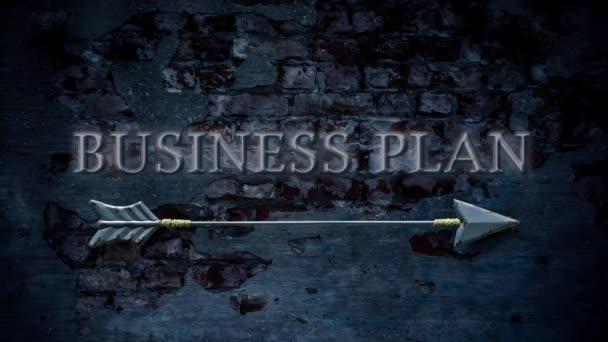 Straßenschild zum Businessplan