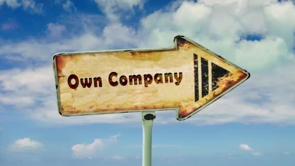 Straßenschild, Firma zu besitzen