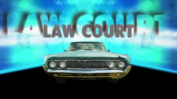 Ulice podepsání směrové cesty k Soudnímu dvoru