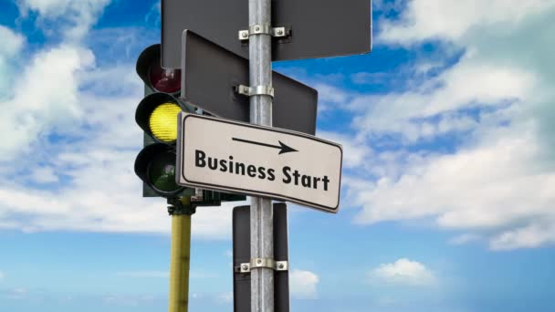 Street Sign the Way to Business Start