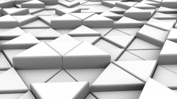 Háttérben a háromszögek. Elvont, háttér, 2 az 1-ben, hurok, készítette: 4 k, 3d animáció