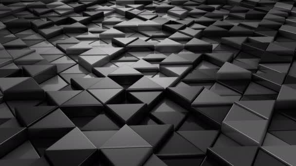 Hintergrund von Dreiecken. abstrakter Hintergrund, 2 in 1, Loop, erstellt in 4k, 3D-Animation