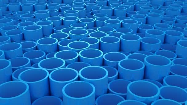 Hintergrund der Rohre. abstrakter Hintergrund, 2 in 1, Loop, erstellt in 4k, 3D-Animation