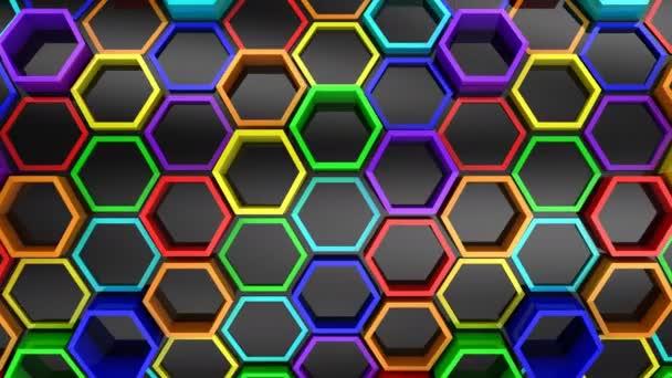 Hintergrund der Sechsecke. abstrakter Hintergrund, Schleife, erstellt in 4k, 3D-Animation