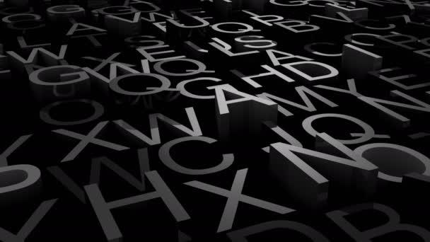 Hintergrund der Buchstaben. abstrakter Hintergrund, 2 in 1, Loop, erstellt in 4k, 3D-Animation