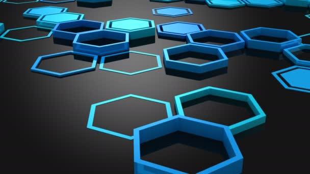 Hintergrund aus Sechsecken. Abstrakt, Hintergrund, 2 in 1, Schleife, erstellt in 4k 3d Animation
