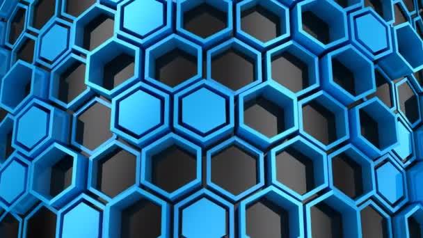 Hintergrund der Sechsecke. abstrakter Hintergrund, 2 in 1, Loop, erstellt in 4k, 3D-Animation