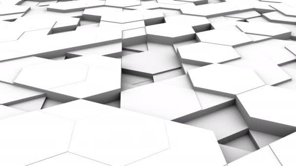 Pozadí z šestiúhelníků. Abstraktní pozadí, loop, vytvořené ve 4k, 3d animace