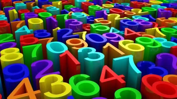 Hintergrund der Zahlen. abstrakter Hintergrund, Schleife, erstellt in 4k, 3D-Animation