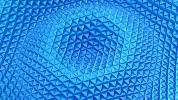 Trojúhelníků tvoří vlnu. Abstraktní pozadí, 2 v 1, vytvořené ve 4k, 3d animace