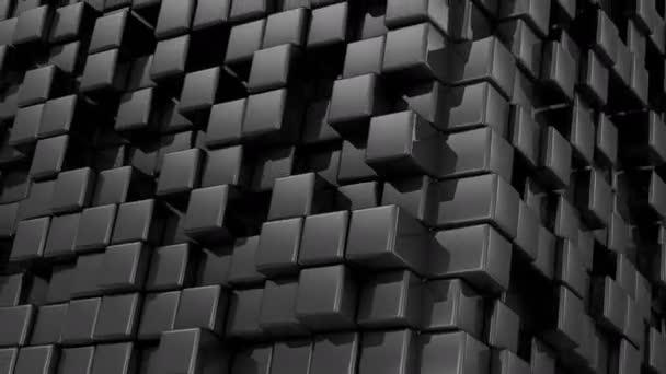 Boxen bilden einen Würfel. abstrakter Hintergrund, 2 in 1, Loop, erstellt in 4k, 3D-Animation
