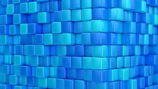 Krabice tvoří krychle. Abstraktní, pozadí, 2 v 1, loop, vytvořené ve 4k, 3d animace