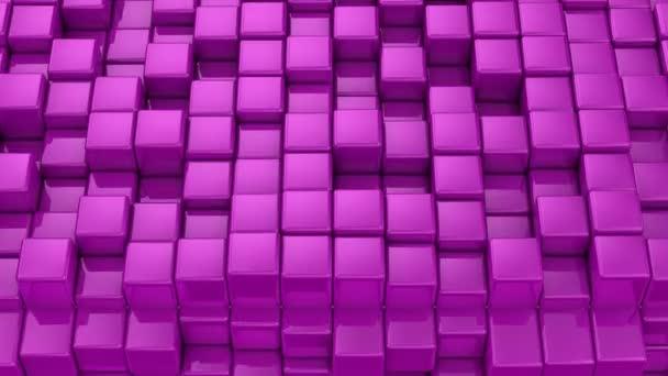Dobozok alkotnak egy kocka. Elvont, háttér, 2 az 1-ben, hurok, készítette: 4 k, 3d animáció