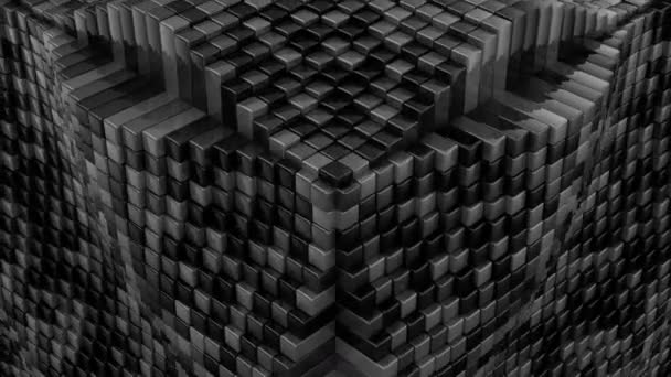 Boxes Form A Cube. Abstract background, 2 in 1, loop, created in 4K, 3d animation