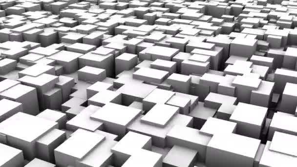 Background of Boxes. Abstract background, loop, created in 4K, 3d animation