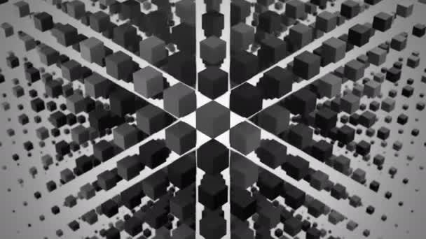 Dobozok egy hullám, a tér alakult ki. Elvont, háttér, 2 az 1-ben, alfa-Matt, hurok, készítette: 4 k, 3d animáció