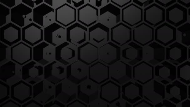 Háttérben a hatszög. Elvont, háttér, 2 az 1-ben, hurok, készítette: 4 k, 3d animáció