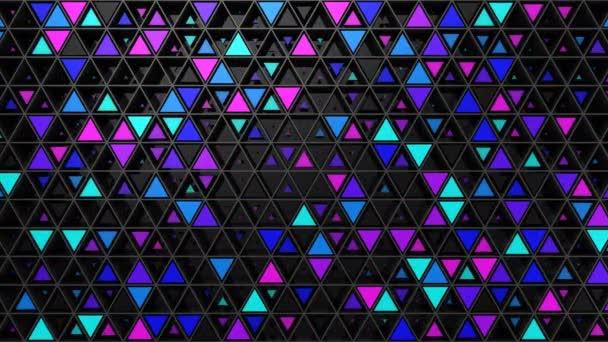 Hintergrund von Dreiecken. abstrakter Hintergrund, Schleife, erstellt in 4k, 3D-Animation