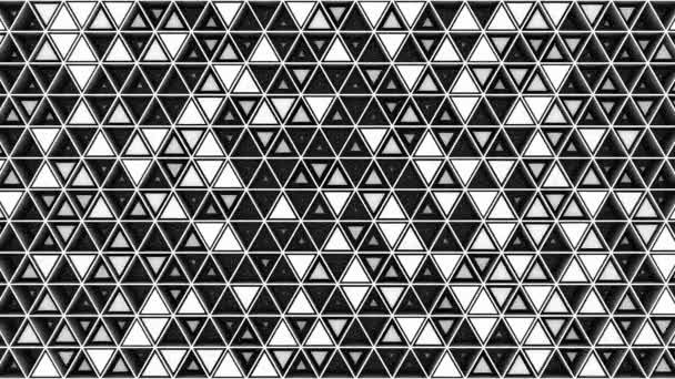 Pozadí trojúhelníků. Abstraktní pozadí, smyčka, vytvořeno v 4k, 3D animace