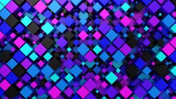 Hintergrund der Boxen. abstrakter Hintergrund, Schleife, erstellt in 4k, 3D-Animation