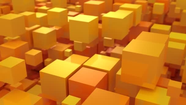 Background of Boxes. Abstract background, 2 in 1, loop, created in 4K, 3d animation
