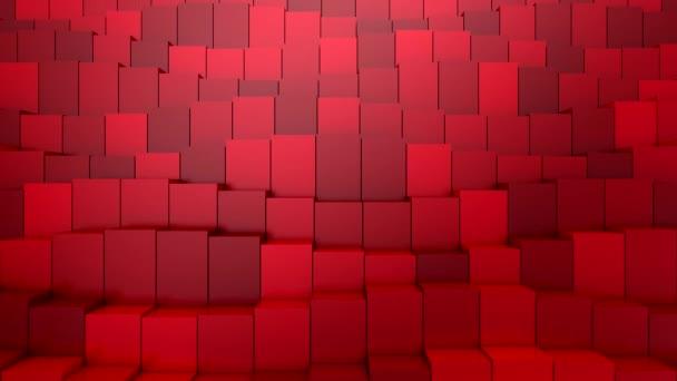 Kisten bilden eine Welle. Abstrakte Bewegung, Schleife, 3D-Darstellung, 4k-Auflösung