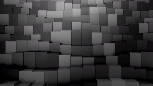 Krabice ve tvaru A. Abstraktní pohyb, smyčka, 3D vykreslování, rozlišení 4k