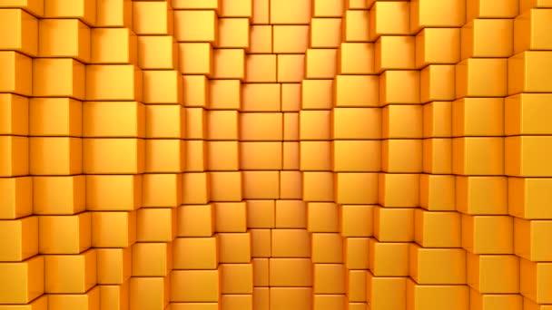 Kisten bilden eine Welle. Abstrakte Bewegung, Schleife, 4 in 1, 3D-Darstellung, 4k-Auflösung