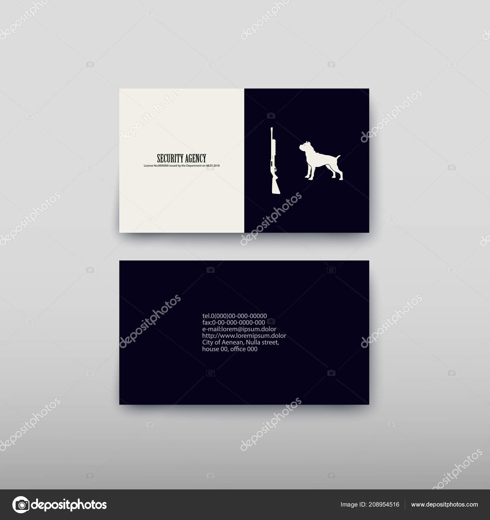 Business Card Containing Contact Information Making Easier Find ...