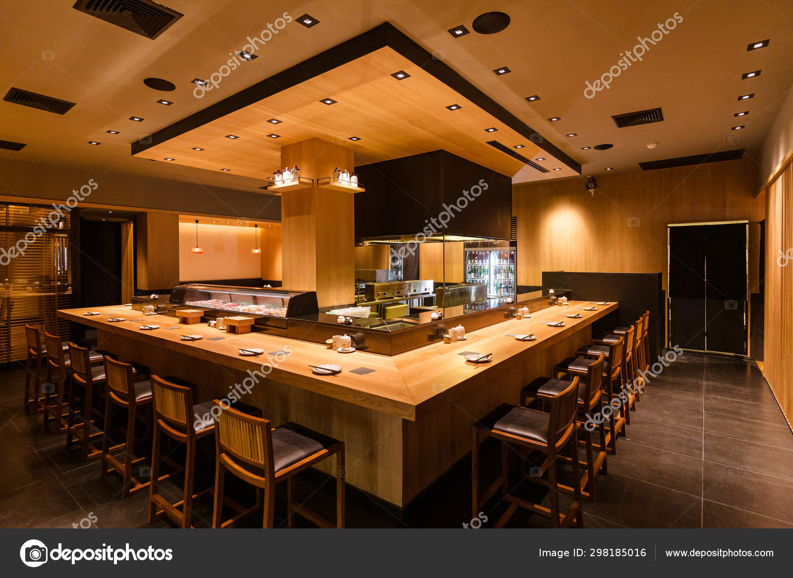 Yakitori Japanese Grilled Skewer Restaurant Counter Bar Grill Kitchen Area Stock Editorial Photo C Artitwpd 298185016