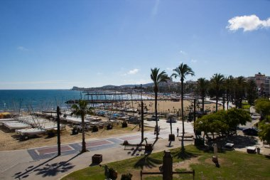 The beaches of Sitges in summer holiday