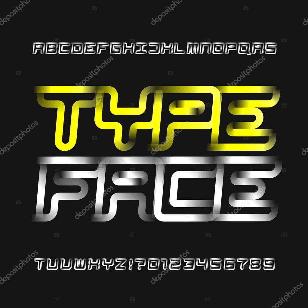 48b9fde53 Tipo Letra Alfabeto Moderno Abstrato Esporte Moderno Estilo Letras Números  — Vetores de Stock © Epifantsev  204065854