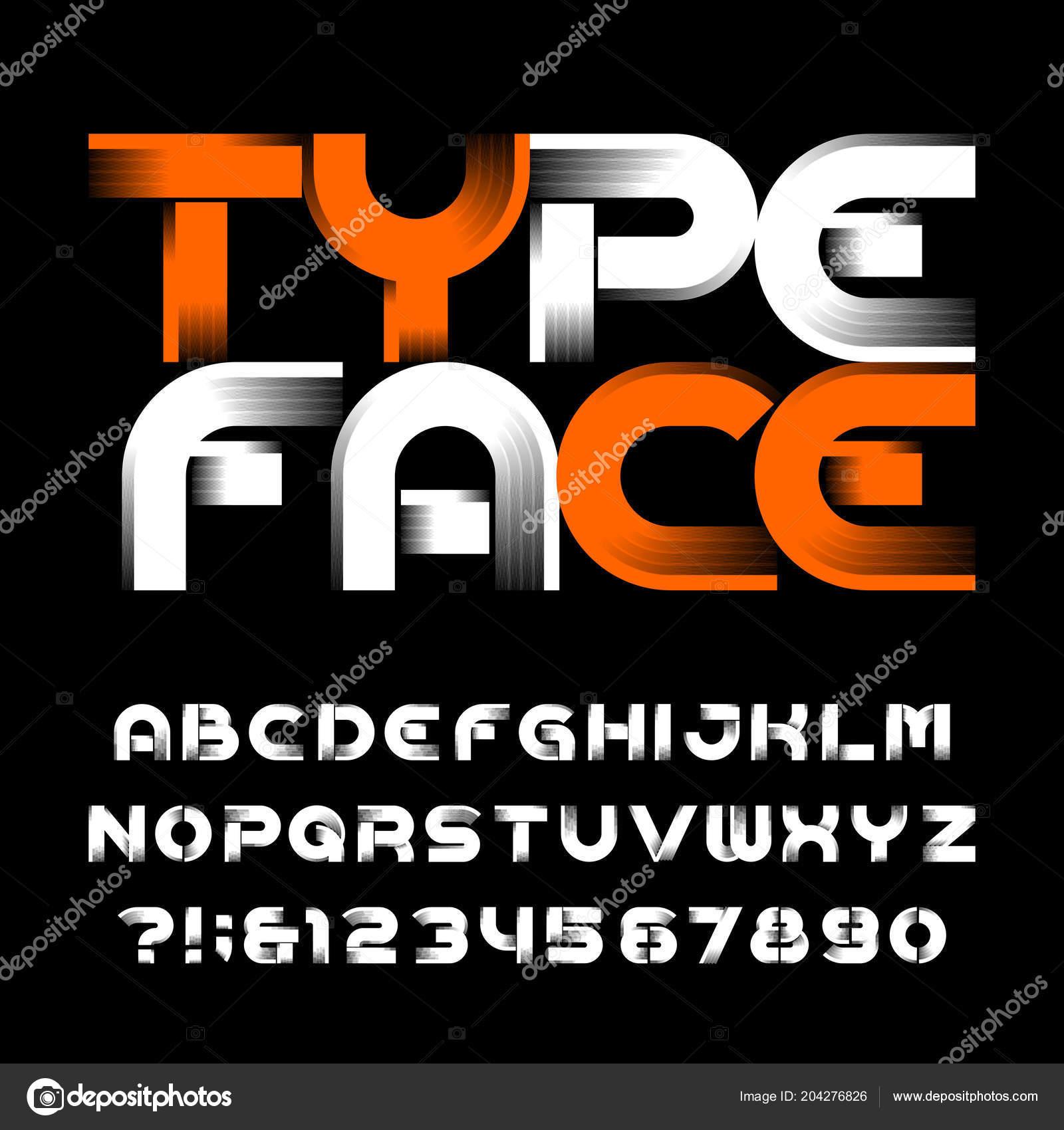 1b638841f Tipo de letra de alfabeto moderno abstrato. Letras maiusculas e números. Fonte  de vetor para seu projeto — Vetor de ...